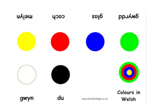 colors in welsh