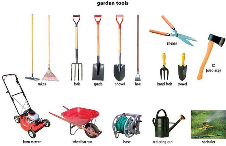 Kerti szersz mok angolul angolkalauz for Gardening equipment names