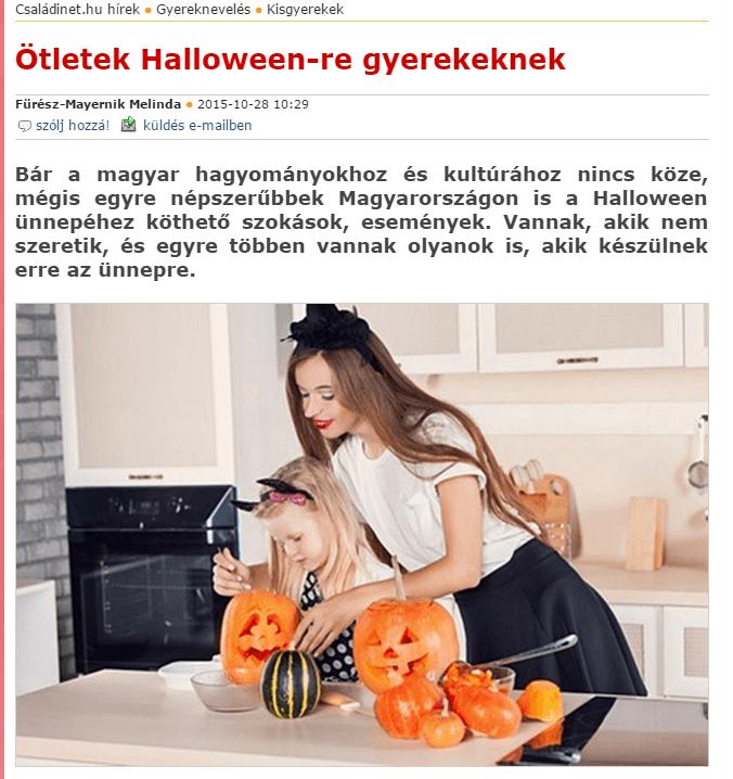 Még mindig Halloween – ötletek gyerekekkel