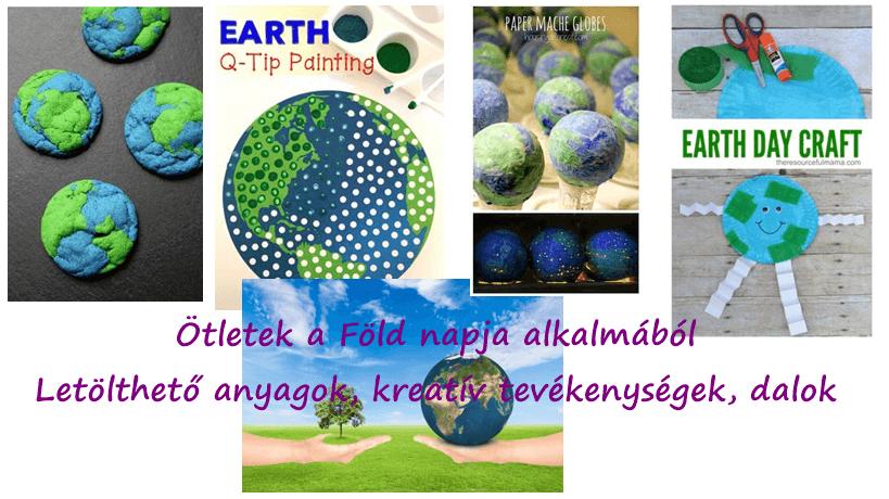 Föld napja – letölthető anyagok, kreatív ötletek, dalok