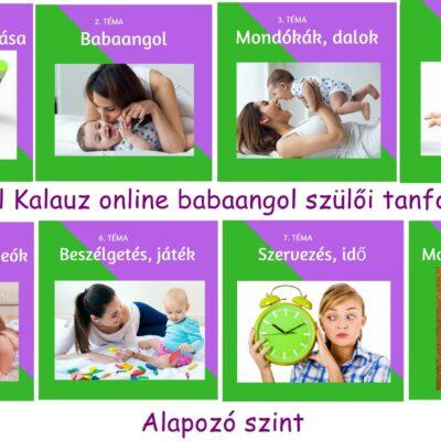 Babaangol (online) szülői tanfolyam alapozó szint