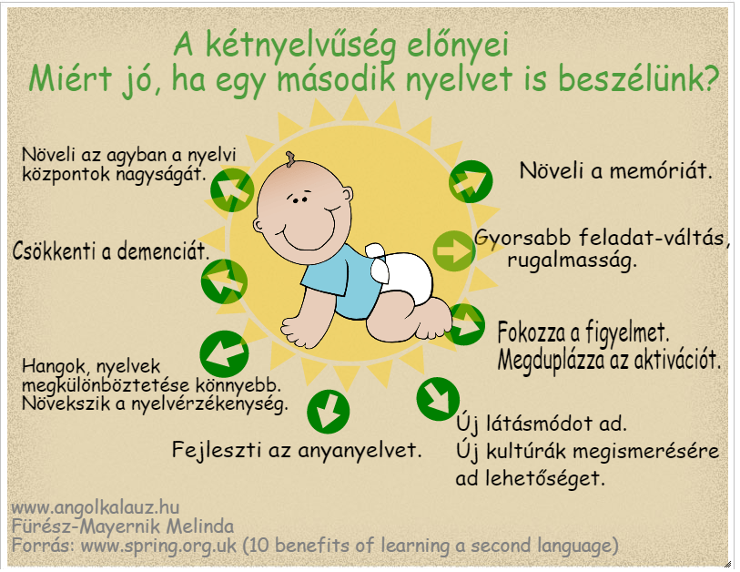 kétnyelvűség előnyei