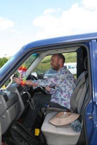 David and new van for bilingual trips