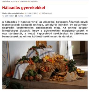 Hálaadás gyerekekkel – Ötletek az ünnephez