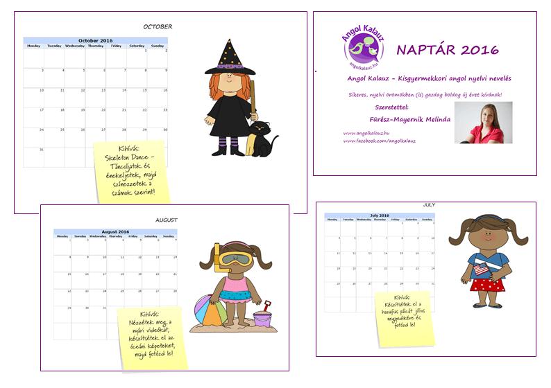 Letölthető 2016-os naptár a játékos angolozáshoz – Minden hónapra egy angolos kihívás!