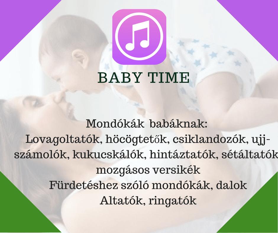 Angol anyanyelvi hanganyag: Baby time