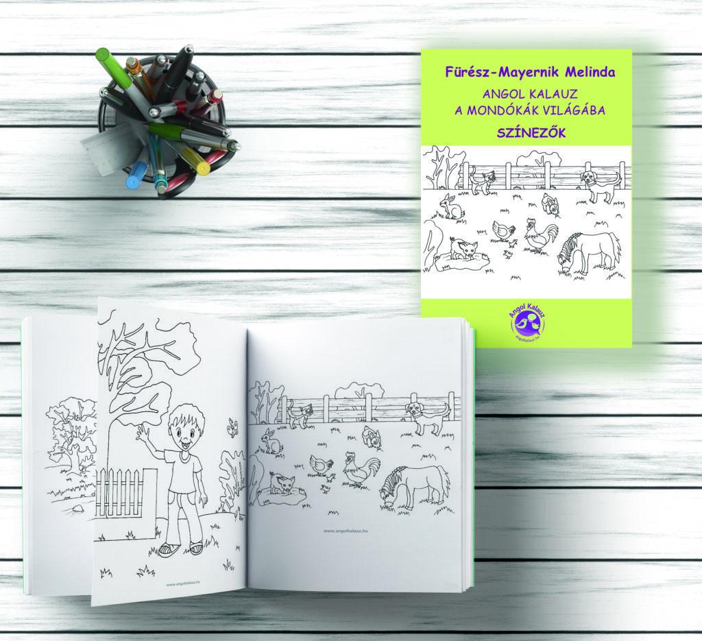 Angol kalauz a mondókák világába színező (e-book)