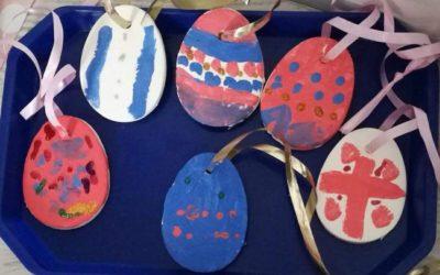 White clay dough eggs – Húsvéti kreatív