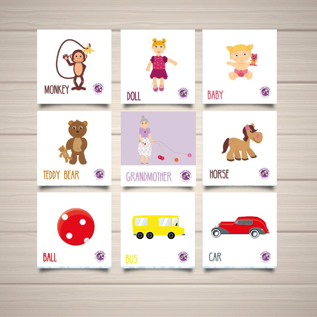 Angol nyelvű képkártyák gyerekeknek